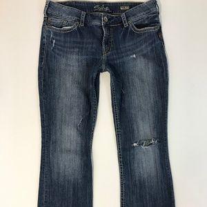"""Silver Jeans Women SUKI Bootcut Size 17"""" 34/33"""